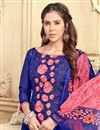 photo of Threadwork Embroidered Chanderi Straight Cut Suit