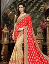 image of Wedding Function Wear Viscose Saree With Zari Work