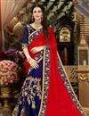 image of Wedding Wear Georgette Saree With Zari Work Embroidery