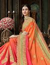 photo of Function Wear Designer Saree With Fancy Lace Border