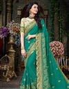 image of Georgette Wedding Wear Saree With Embroidered Lace