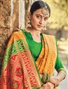 photo of Mustard Patola Art Silk Festive Wear Saree With Weaving Work