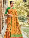 image of Mustard Patola Art Silk Festive Wear Saree With Weaving Work