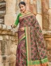 image of Dark Lavender Patola Art Silk Festive Wear Saree With Weaving Work
