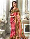 image of Printed Designs On Pink Daily Wear Saree In Fancy