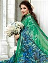photo of Fancy Green Office Wear Saree With Plain Blouse