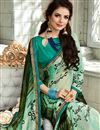 photo of Light Cyan Color Fancy Fabric Fancy Printed Daily Wear Saree