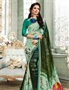 image of Light Cyan Color Fancy Fabric Fancy Printed Daily Wear Saree