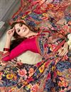 photo of Multicolor Daily Wear Saree In Fancy Fabric With Simple Blouse