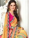 photo of Fancy Fabric Saree In Yellow With Plain Blouse