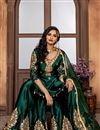 image of Dark Green Function Wear Embroidered Sharara Suit In Fancy Fabric
