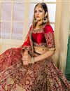 photo of Embroidered Occasion Wear Lehenga In Satin Fabric Maroon