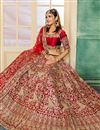 image of Embroidered Occasion Wear Lehenga In Satin Fabric Maroon