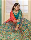 photo of Art Silk Fabric Designer Embroidered Lehenga Choli In Sky Blue With Alluring Blouse