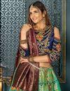 photo of Sea Green Color Party Wear Lehenga Choli In Banarasi Silk Fabric With Weaving Work