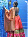 photo of Pink Color Lehenga Choli With Weaving Designs
