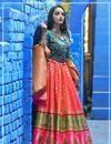 image of Weaving Work Pink Color Banarasi Silk Fabric Function Wear Lehenga Choli