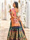 photo of Weaving Work Designs Banarasi Silk Fabric Dark Green Color Wedding Wear Lehenga With Jacquard Dupatta