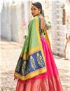 photo of Weaving Work Occasion Wear Lehenga With Jacquard Dupatta