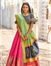 image of Weaving Work Occasion Wear Lehenga With Jacquard Dupatta