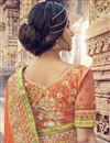 photo of Orange Color Wedding Wear Georgette Saree With Embroidery Work