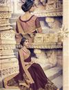 photo of Festive Wear Stylish Brown Color Designer Georgette Saree