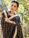 photo of Black Color Lovely Festive Wear Saree In Georgette Fabric With Unstitched Georgette Blouse