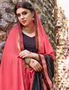 photo of Pink And Black Color Lovely Festive Wear Saree In Georgette Fabric With Unstitched Georgette Blouse