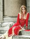 photo of Red Color Embroidered Party Wear Palazzo Salwar Suit In Georgette Fabric