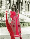photo of Stylish Designed Pink Color Salwar Suit In Georgette Fabric With Embroidery Work