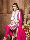 photo of Fabulous White Color Designer Embroidered Suit In Cotton Fabric