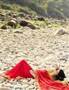photo of Festive Wear Superb Red Color Printed Saree In Georgette Fabric