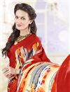 photo of Crepe And Silk Festive Wear Printed Saree In Beautiful Red Color