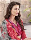 photo of Charming Pink And Grey Color Festive Wear Georgette And Silk Saree With Fancy Print Work