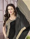 photo of Printed Festive Wear Classic Black Color Georgette And Silk Saree