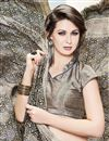 photo of Beige Color Stylish Crepe And Silk Party Wear Printed Saree