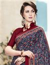 photo of Festive Wear Fabulous Grey Color Crepe And Silk Saree With Fancy Print Work