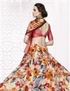 photo of Printed Festive Wear Classic Multi Color Georgette Saree With Satin Border