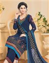 photo of Ravishing Blue Color Designer Georgette Salwar Kameez With Embroidery Work
