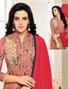 photo of Party Wear Attractive Beige Color Embroidered Salwar Kameez