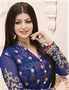 photo of Ayesha Takia Classic Blue Color Designer Salwar Kameez In Georgette Fabric