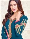 photo of Georgette Party Wear Designer Salwar Suit In Beautiful Navy Blue Color