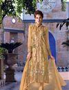 image of Smashing Beige Color Festive Wear Salwar Kameez