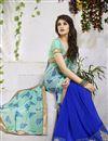 photo of Blue-Sea Green Color Mesmerizing Designer Sari-204