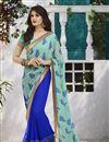 image of Blue-Sea Green Color Mesmerizing Designer Sari-204