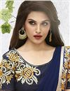 photo of Attractive Navy Blue Designer Saree-208