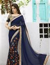 image of Attractive Navy Blue Designer Saree-208