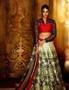 image of Mehendi Green 3 Piece Designer Lehenga Choli
