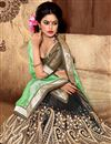 photo of Riveting Black-Green Designer Half-Half Saree
