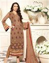 image of Karisma Kapoor Chikoo Georgette Pakistani Dress
